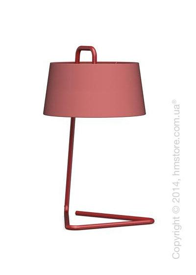 Настольный светильник Calligaris Sextans, Table lamp, Fabric red