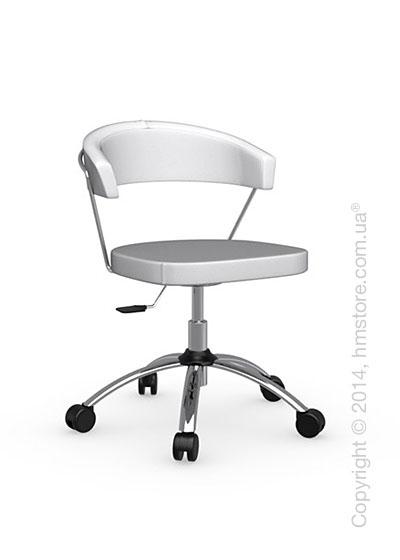Кресло Calligaris New York, Swivel chair, Gummy coating optic white