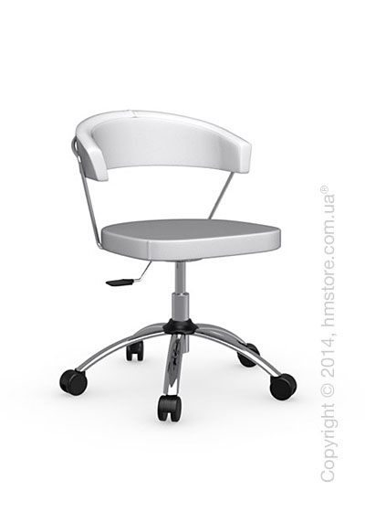 Кресло Connubia New York, Swivel chair, Gummy coating optic white