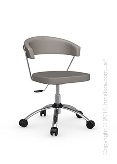 Кресло Calligaris New York, Swivel chair, Gummy coating taupe