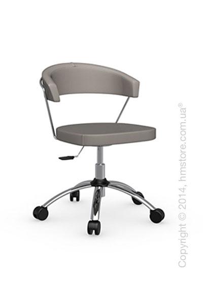 Кресло Calligaris New York, Swivel chair, Gummy coating taupe