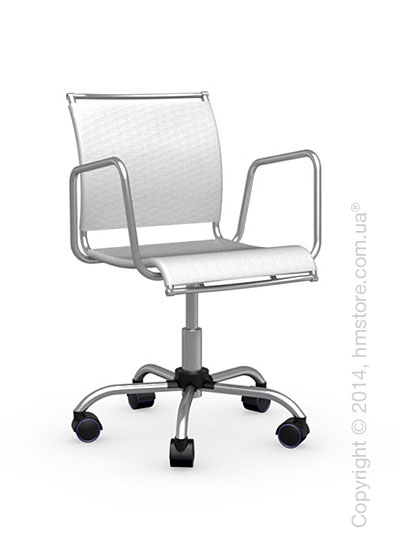 Кресло Calligaris Air Race, Swivel chair, Net coating optic white