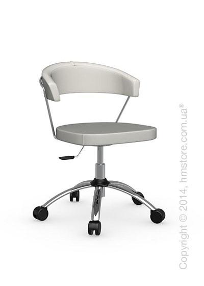 Кресло Calligaris New York, Swivel chair, Leather white
