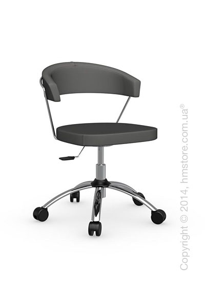 Кресло Calligaris New York, Swivel chair, Leather taupe