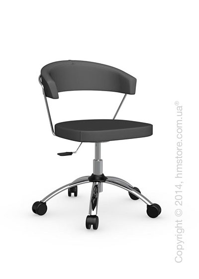 Кресло Connubia New York, Swivel chair, Leather grey