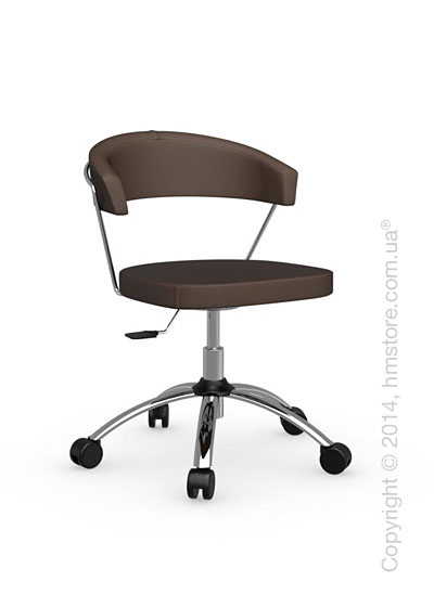 Кресло Calligaris New York, Swivel chair, Leather antilope brown