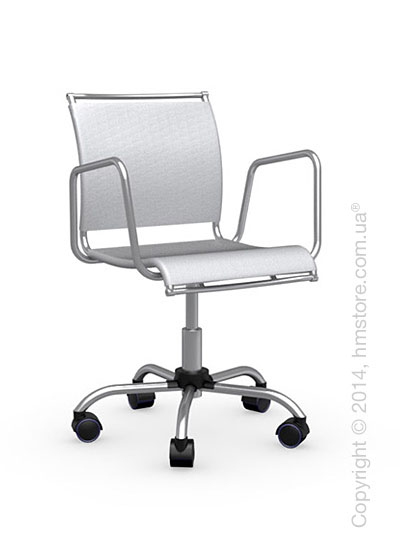 Кресло Calligaris Air Race, Swivel chair, Net coating grey