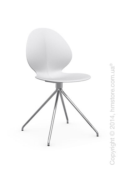 Стул Calligaris Basil, Metal and polypropylene chair, Plastic matt optic white