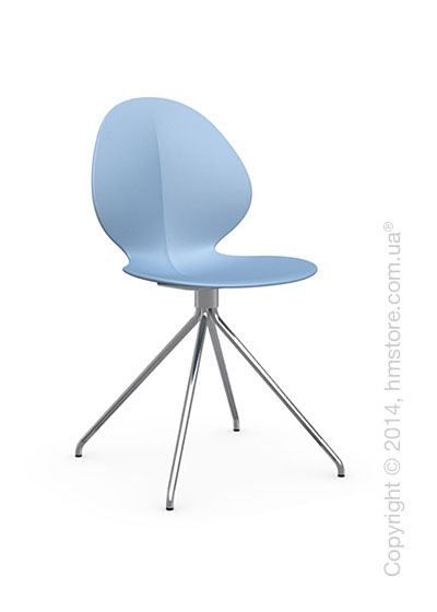 Стул Calligaris Basil, Metal and polypropylene chair, Plastic sky blue