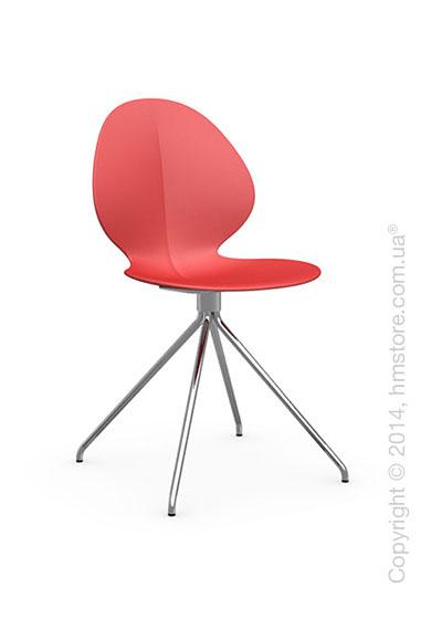 Стул Calligaris Basil, Metal and polypropylene chair, Plastic red