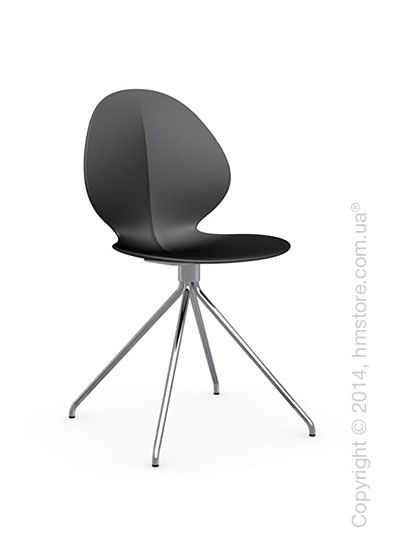 Стул Calligaris Basil, Metal and polypropylene chair, Plastic black