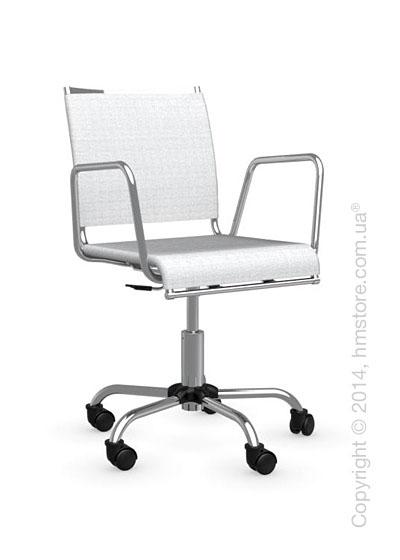 Кресло Calligaris Web Race, Swivel chair, Metal chromed and Joy coating optic white