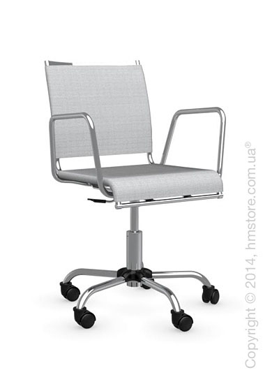 Кресло Calligaris Web Race, Swivel chair, Metal chromed and Joy coating light grey