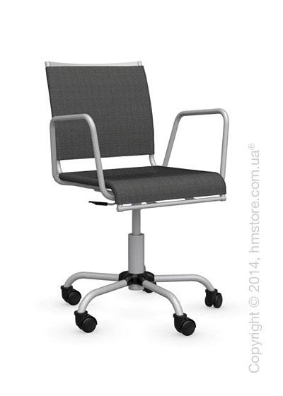 Кресло Calligaris Web Race, Swivel chair, Metal chromed and Joy coating anthracite grey