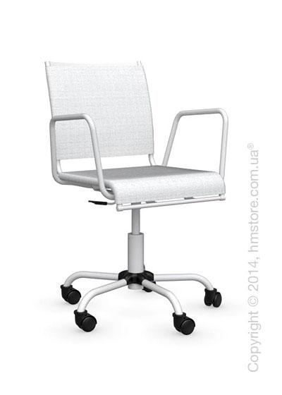 Кресло Calligaris Web Race, Swivel chair, Metal matt optic white and Joy coating optic white