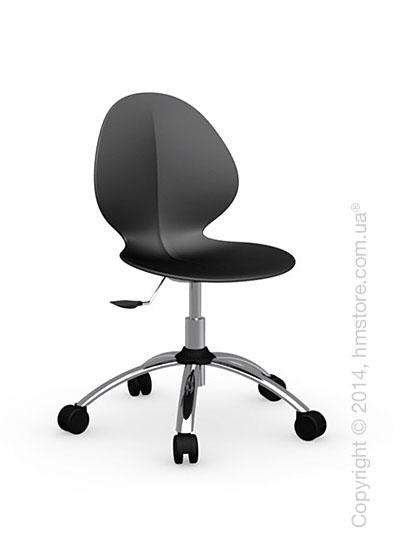 Кресло Calligaris Basil, Metal and plastic swivel chair, Plastic matt black