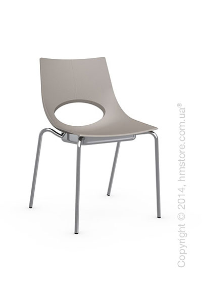 Стул Calligaris Congress, Stackable chair, Metal chromed and Plastic taupe