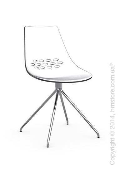 Стул Calligaris Jam, Metal chair, Plastic white and transparent