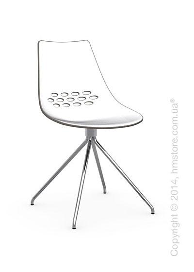 Стул Calligaris Jam, Metal chair, Plastic white and taupe transparent
