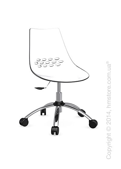 Кресло Calligaris Jam, Swivel chair, Plastic white and transparent