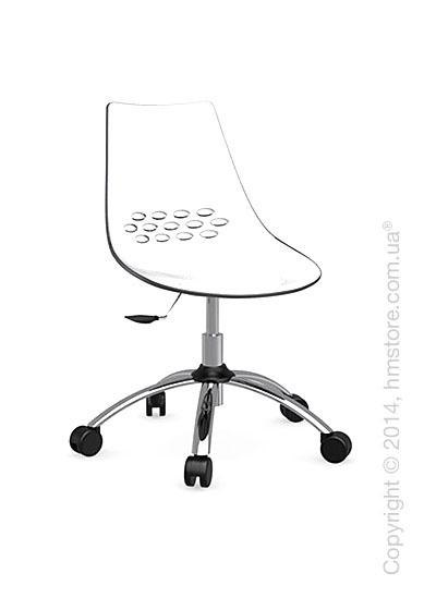 Кресло Connubia Jam, Swivel chair, Plastic white and transparent