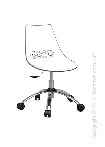 Кресло Calligaris Jam, Swivel chair, Plastic white and taupe transparent