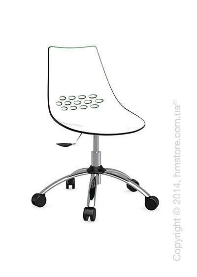 Кресло Connubia Jam, Swivel chair, Plastic white and green transparent