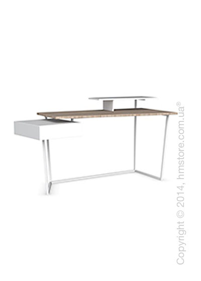 Стол Calligaris Layers, Metal matt optic white, Veneer natural and Lacquered matt optic white