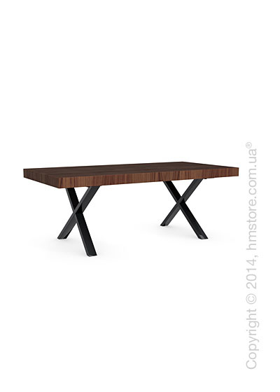 Стол Calligaris Axel, Veneer walnut and Metal black nickel