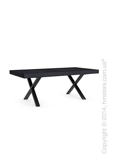 Стол Calligaris Axel, Veneer graphite and Metal black nickel