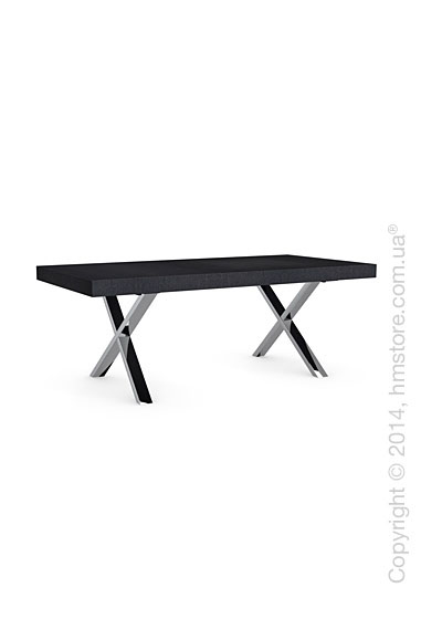 Стол Calligaris Axel, Veneer graphite and Metal chromed