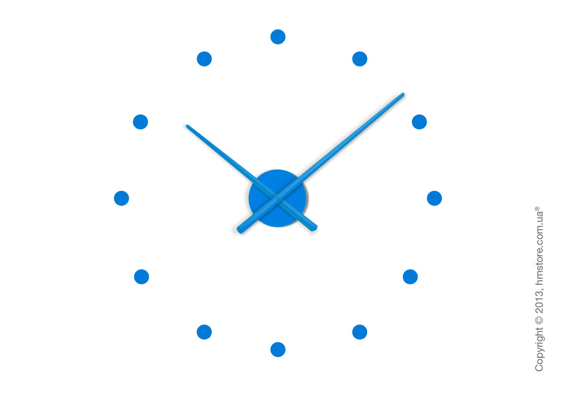 Часы настенные Nomon Oj Mini Wall Clock, Blue