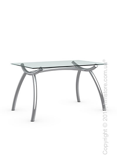 Стол Calligaris Diablo, Tempered glass transparent and Metal chromed, S