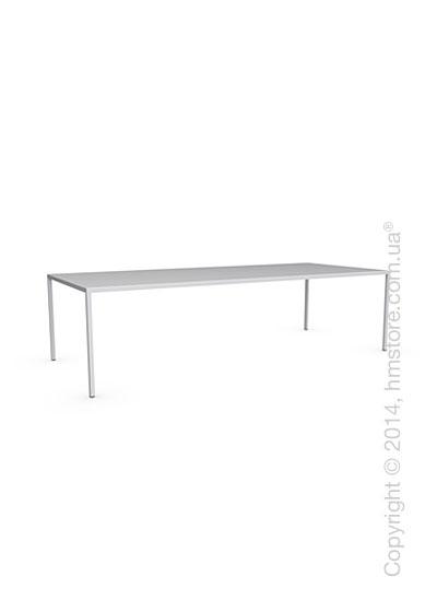 Стол Calligaris Heron, Rectangular metal table L, Metal matt optic white