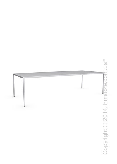 Стол Calligaris Heron, Rectangular metal table L, Metal matt optic white