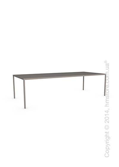 Стол Calligaris Heron, Rectangular metal table L, Metal matt taupe