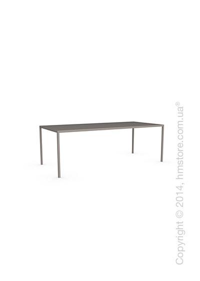 Стол Calligaris Heron, Rectangular metal table M, Metal matt taupe