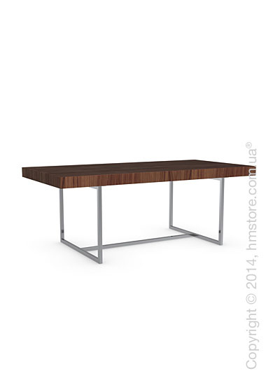 Стол Calligaris Parentesi, Veneer walnut and Metal chromed