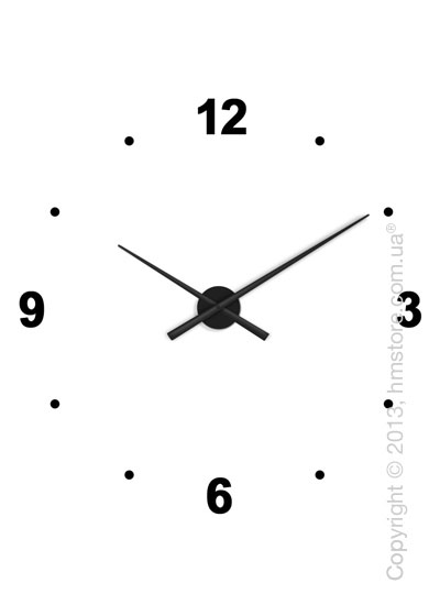 Часы настенные Nomon Oj 4 Numbers Pack Wall Clock, Black
