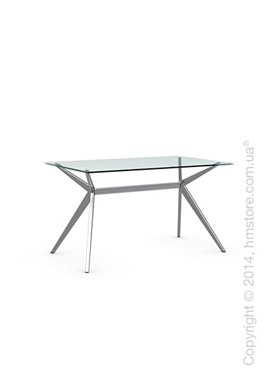 Стол Calligaris Seven S, Tempered glass transparent and Metal chromed