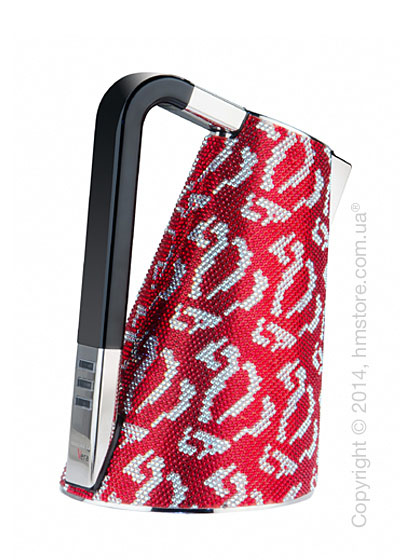Чайник электрический Bugatti Individual VERA Sparkle of crystals, Red