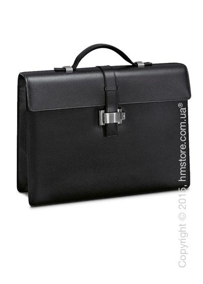 Мужской кожаный портфель для документов Montblanc серия 4810 Westside, Black
