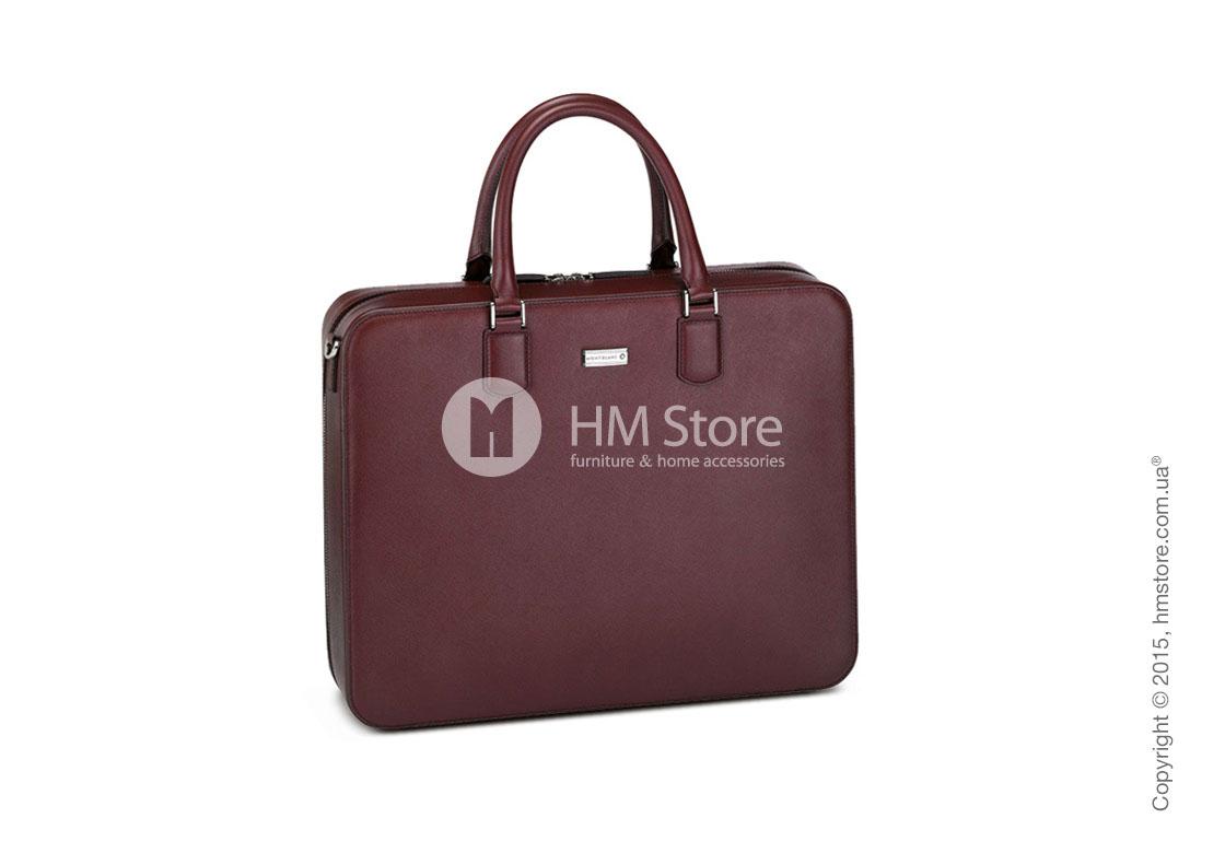 3363b860fc27 Кожаная сумка для документов Montblanc серия Meisterstuck Selection, Red