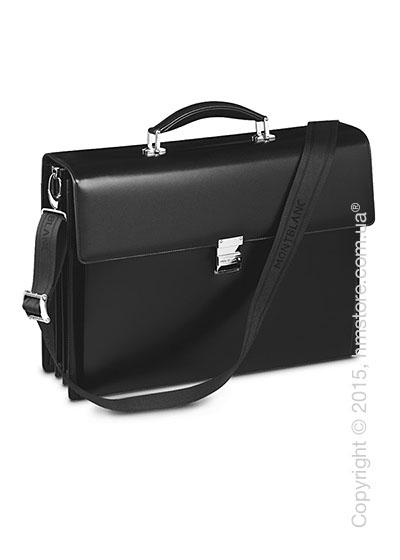 Мужской кожаный портфель для документов Montblanc серия Meisterstuck Triple Gussets Briefcase, Black