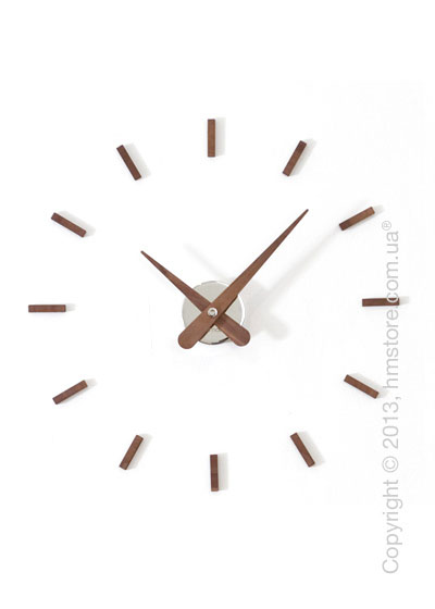 Часы настенные Nomon Sunset Wall Clock, Walnut