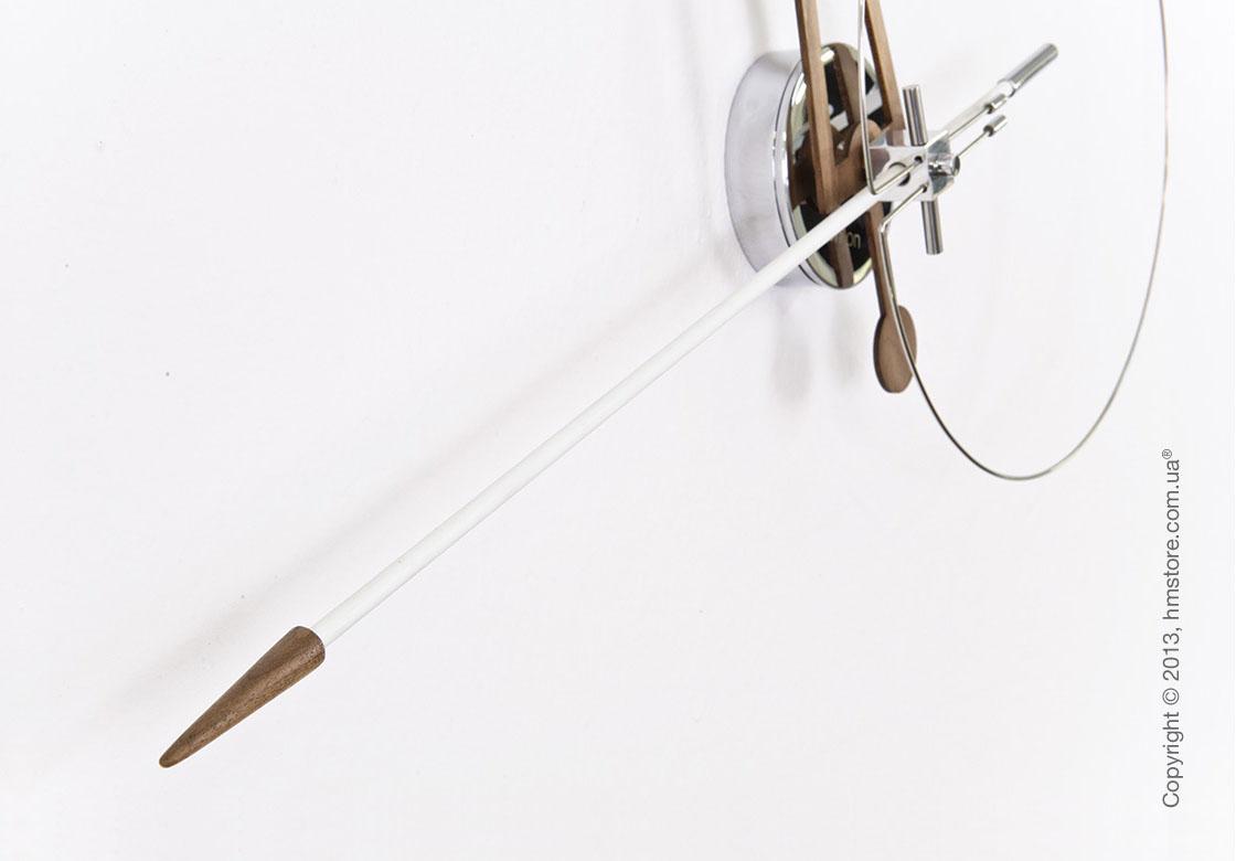 Часы настенные Nomon Cris Wall Clock Walnut, White