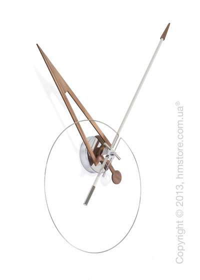 Часы настенные Nomon Cris Wall Clock Walnut, White