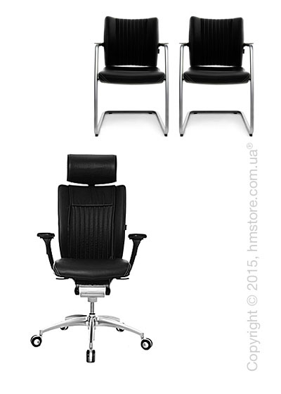 Комплект – кресло Wagner Titan Limited S Comfort, два кресла Titan Limited S Comfort Visit, Black