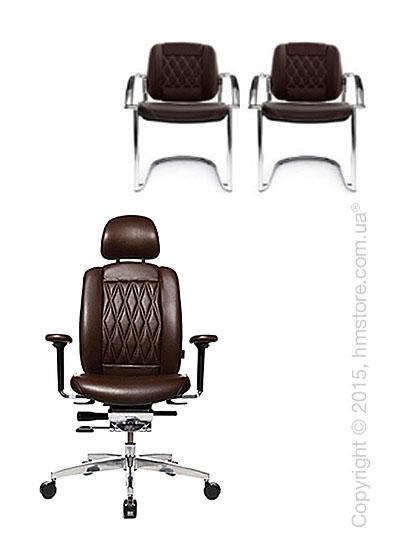 Комплект – кресло Wagner AluMedic Limited S Comfort, два кресла AluMedic Limited S Comfort Visit, Dark Brown