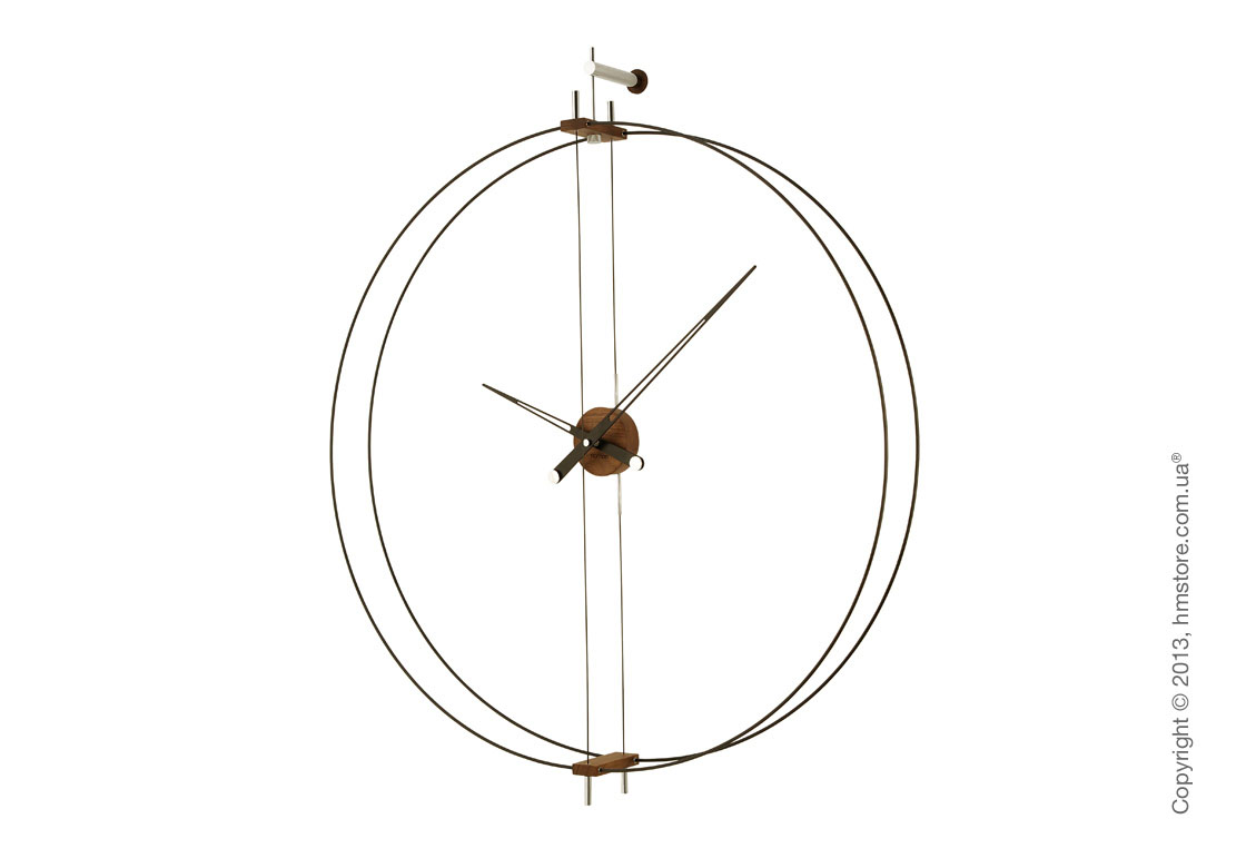 Часы настенные Nomon Barcelona Wall Clock, Walnut